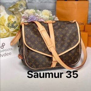 ✅Authentic ✅LOUIS VUITTON Saumur 35 Shoulder bag